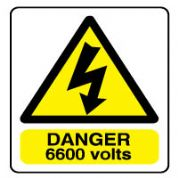 Warn103 - Danger 6600 volts